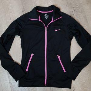 M NIKE DRI-FIT  black & pink jacket
